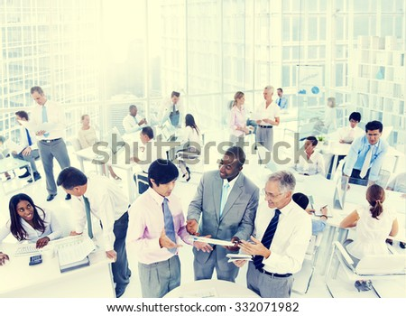 Business People Corporate Team Communication Colleagues Working Concept - stock photo