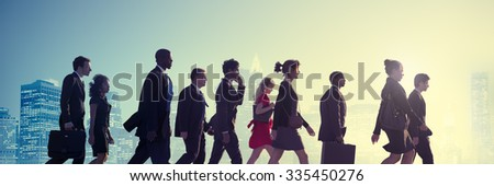 Business People Corporate Walking City Concept - stock photo