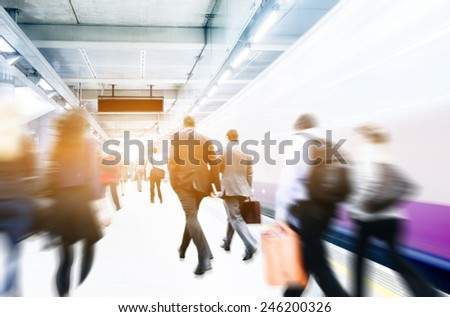 Business People Corporate Walking Commuting City Concept - stock photo