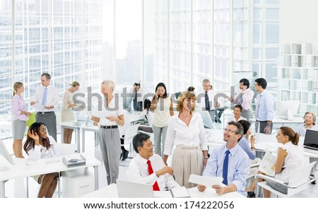 Business people discussing at the Office - stock photo