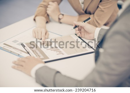 Business people discussing during a meeting