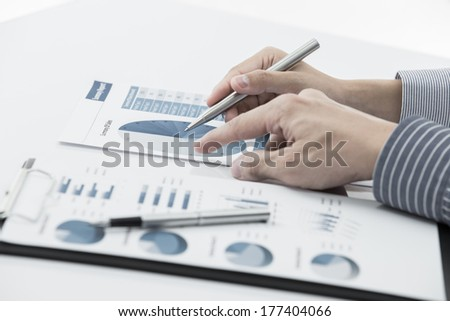 Business people discussing during a meeting on table