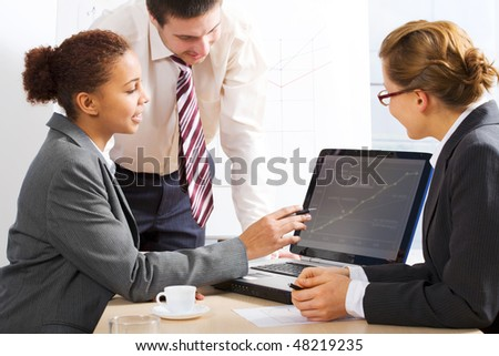 Business people discussing in a business meeting