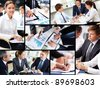 Business people discussing results of work - stock photo