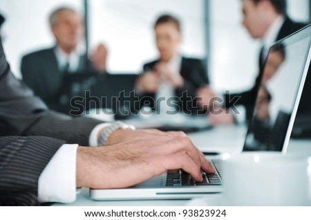 Business people discussion at meeting room - stock photo