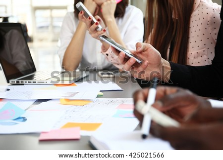 Business People Diverse Brainstorm Business Meeting Concept  - stock photo