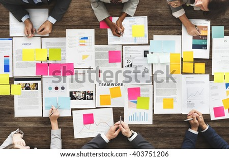 Business People Diverse Brainstorm Meeting Concept - stock photo