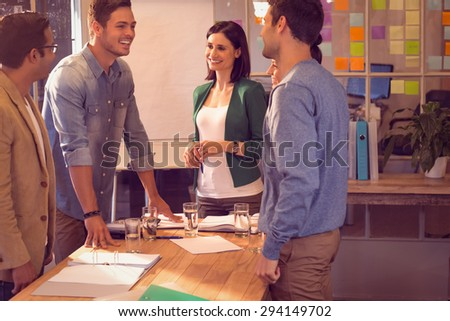 Business people during a meeting at the office - stock photo