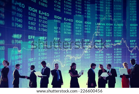 Business People Global Financial Concept - stock photo