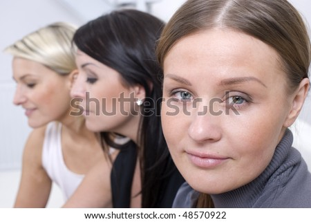 Business people group together - stock photo
