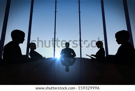 Business people having on presentation at office rendered by computer graphic. - stock photo