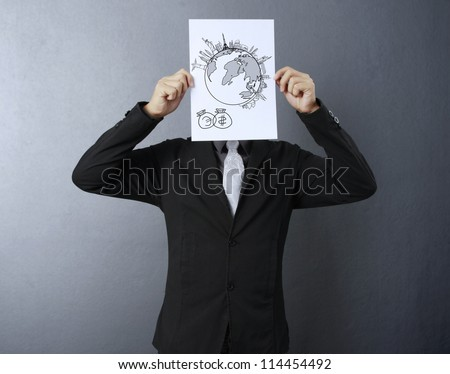 Business people Idea. Hand Holding Paper - stock photo