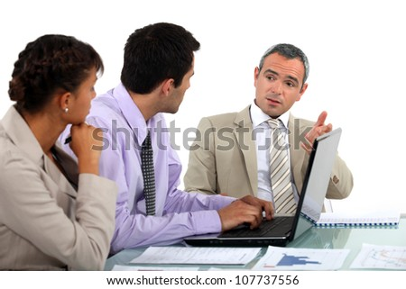Business people in a discussion - stock photo