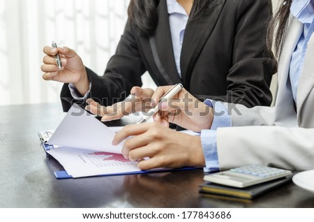 Business people in meeting in office