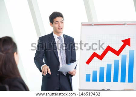 Business people in presentation