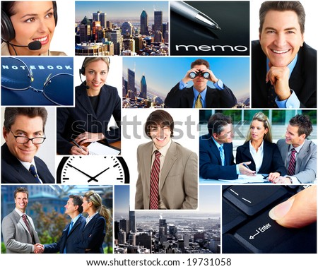 Business  people in the downtown. Businessmen and business women - stock photo