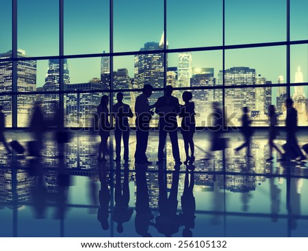 Business People Interaction Conversation Team Working Together Concept - stock photo