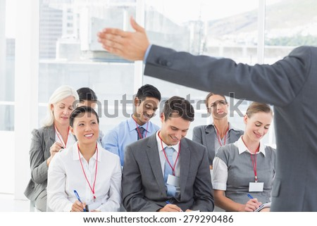Business people listening during meting in office - stock photo