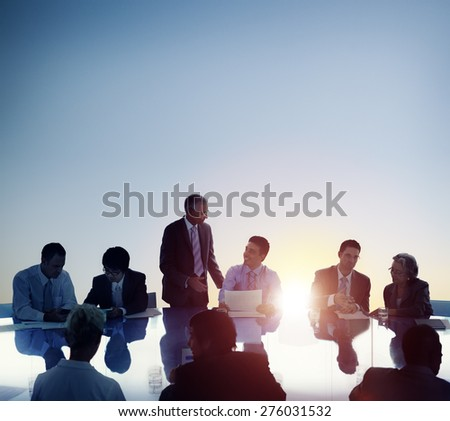 Business People Meeting Brainstorming Team Concept - stock photo