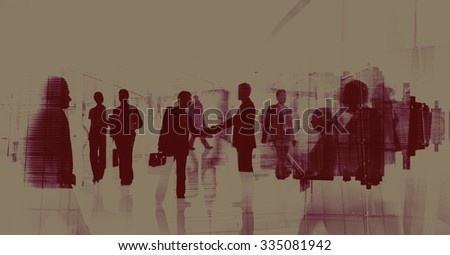 Business People Meeting Commuter Greeting Handshake Concept