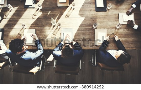 Business People Meeting Conference Brainstorming Concept - stock photo