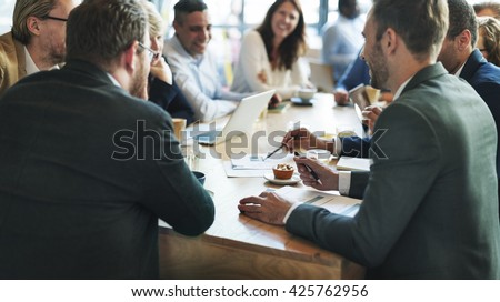 Business People Meeting Conference Discussion Corporate Concept - stock photo
