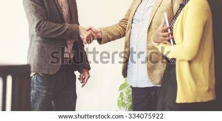 Business People Meeting Corporate Handshake Greeting Concept - stock photo