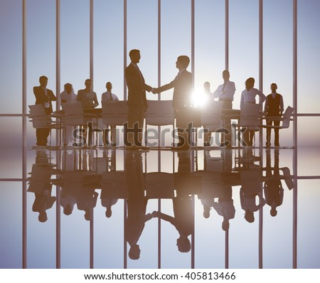 Business People Meeting Corporate Professional Occupation Concept - stock photo
