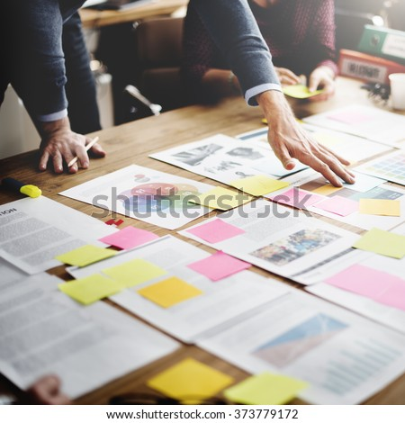 Business People Meeting Design Ideas Concept - stock photo