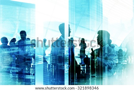 Business People Meeting Discussion Corporate Team Concept - stock photo