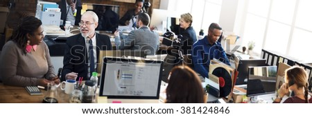 Business People Meeting Discussion Office Working Concept