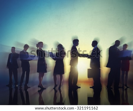 Business People Meeting Greeting Handshake Corporate Concept - stock photo