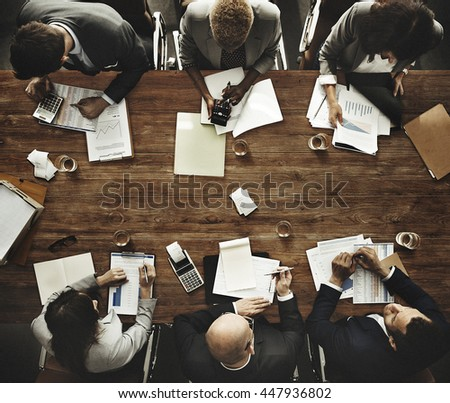 Business People Meeting Growth Success Target Economic Concept - stock photo