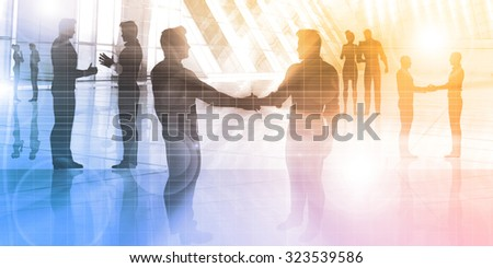 Business People Meeting in a Corporate Environment - stock photo