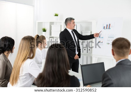 Business people meeting in office to discuss project. Business success concept - stock photo