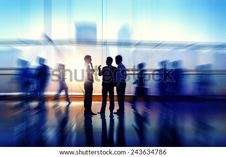 Business People Meeting Seminar Corporate Office Concept - stock photo