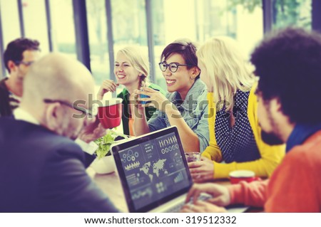 Business People Meeting Seminar Sharing Talking Thinking Concept - stock photo
