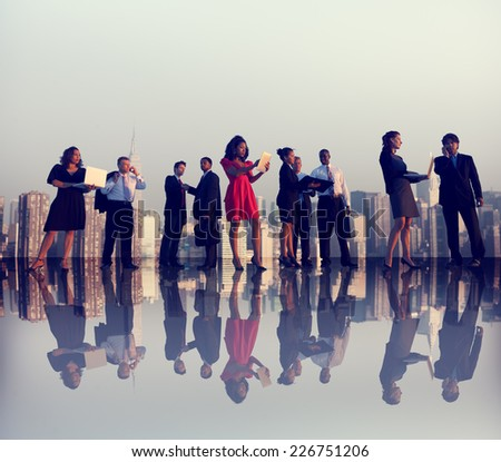 Business People Meeting Working City Concept - stock photo