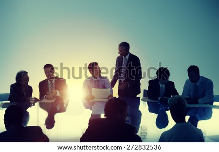 Business People Meeting Working Teamwork Concept - stock photo