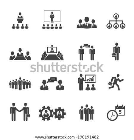 Conference Table Icon Conferences Icons Showing