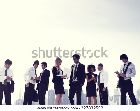 Business People New York Working Concept - stock photo