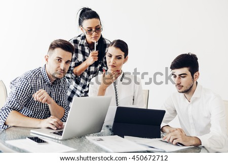 business people, office life - stock photo