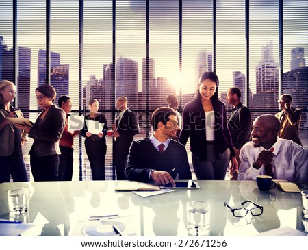 Business People Office Working Discussion Team Concept - stock photo