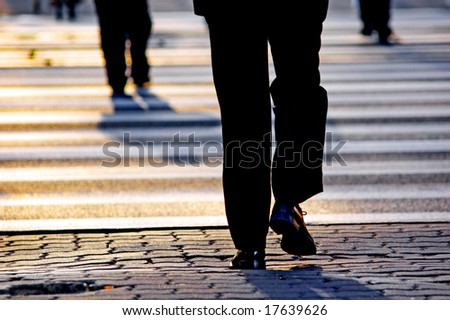 Business people on the street - stock photo