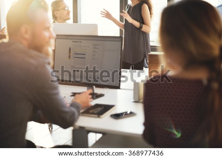 Business People Planning Financial Worksheet Bookkeeping Concept - stock photo