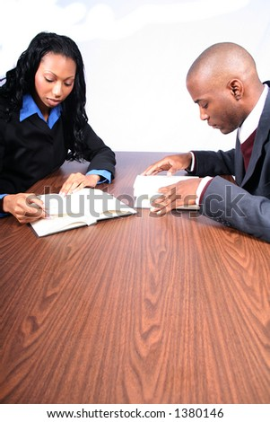 Business People Reading - stock photo