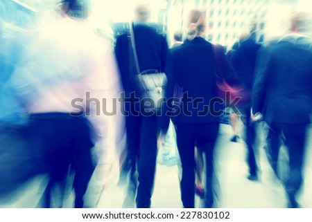 Business People Rush Hour Busy Walking Commuter Concept - stock photo