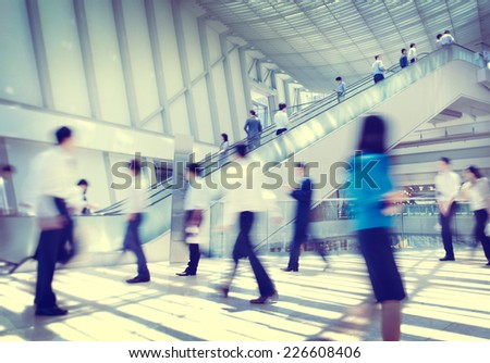 Business People Rush Hour Concept - stock photo