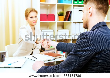Business people shaking hands. Agreement, partnership concept. - stock photo
