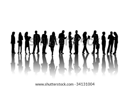 Business people silhouettes. - stock photo